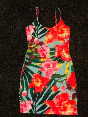 Sommer Kleid geblümt gr. 36/38 S pink grün