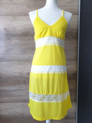 Butik Pinafore dress white-yellow