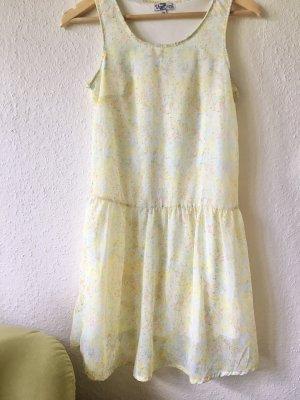 Sommer Kleid gelb bunt Gr. 36