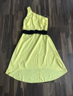 Robe asymétrique jaune