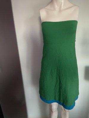 Moda International Abito a fascia verde-blu neon