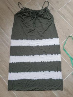 Made in Italy Beach Dress white-green grey