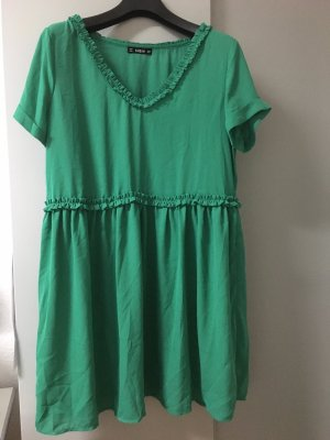 Chiffon Dress forest green-green