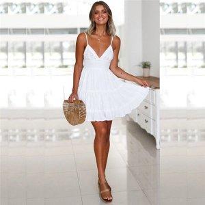 Sommer kleid in weiß