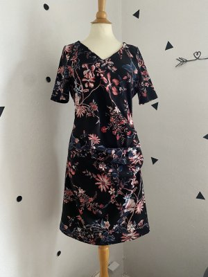 Sommer Kleid Kaffe Blumen floral gr M