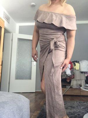 Sommer Kleid neu Gr 36-38 beige nude