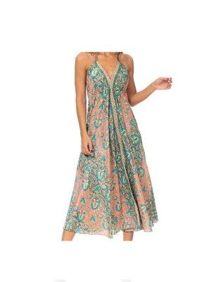Sommer Kleid  Peace & Love ,100% Polyester,Peace & Love Kleid in Bunt 65 Euro NP €92,75 €  Ein charmantes Kleid für viele Gelegenheiten! Figurfreundlicher Schnitt mit locker fallenden Lagen. Dieses Maxikleid aus lebhaft gemusterter leichte feine Stoff.  -