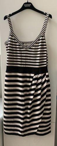 Marc Cain Letnia sukienka czarny-w kolorze białej wełny Bawełna