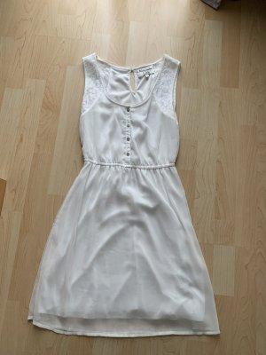 Sommer Kleid weiß mit Spitze Gr xs