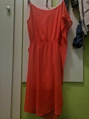 Chiffon jurk veelkleurig Gemengd weefsel