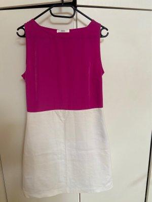 Marks & Spencer Sukienka tunika biały-malina