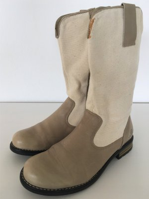 Bottines à fermeture éclair multicolore cuir