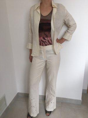 Peek & Cloppenburg Ladies' Suit natural white-cream linen