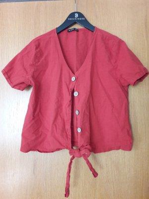 ambar Camisa recortada rojo claro-rojo ladrillo