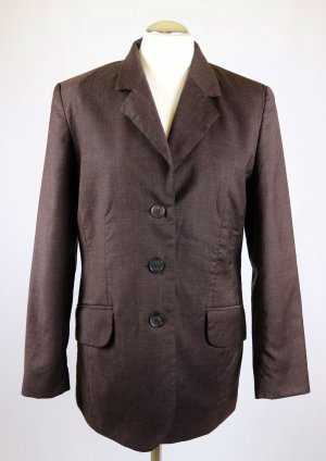Amalfi Long Blazer dark brown-brown new wool