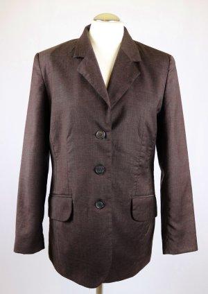 Sommer Long Blazer Jacke Amalfi Größe M 38 Braun Dunkelbraun Dünn Schurwolle Wolle Tuch