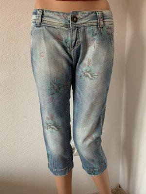 Sommer NP 169€ wie neu italienische Jeans Hose Caprijeans Caprihose Blau 36 S