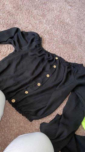 H&M Top schiena coperta nero