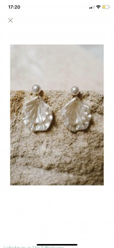Anthropologie Statement Earrings white-gold-colored
