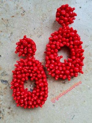 Sommer Ohrringe rot handgemacht
