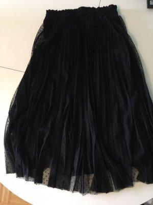 Stradivarius Plisowana spódnica czarny