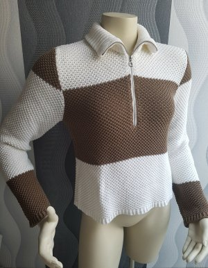 Marc Cain Coarse Knitted Sweater light brown