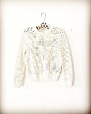 sommer pulli • strickpullover • gant • wollweiss • casual