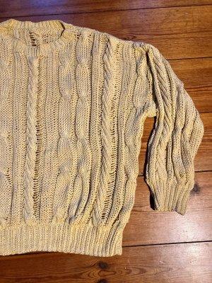 Warkoczowy sweter Wielokolorowy