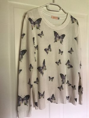 Sommer-Pullover mit lila Schmetterlingen