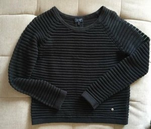 Armani Jeans Pull à gosses mailles bleu foncé-noir