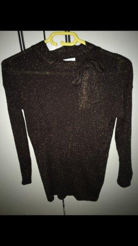 Bluoltre Sweter ciemnobrązowy-złoto