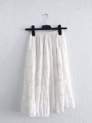 Silk Skirt cream-natural white
