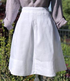 D made in Italy Linen Skirt white