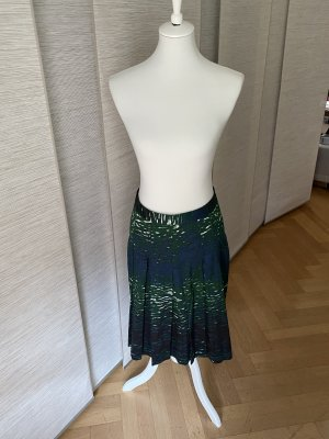 Turnover Plaid Skirt multicolored