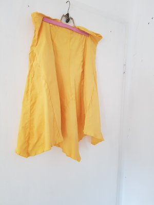 Made in Italy Asymetryczna spódniczka żółty