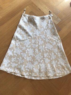 H&M Asymetryczna spódniczka biały-kremowy