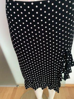 Spódnica z falbanami czarny-biały