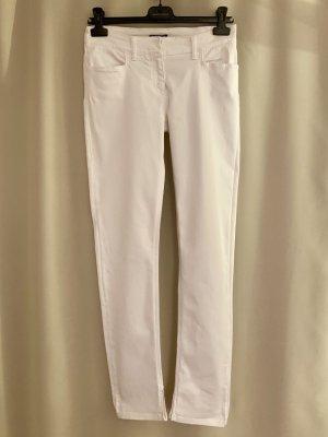 Sommer Röhrenhose Jeans aus Baumwolle Weiß Hose 26 34 36 S figurbetohnt elastisch stretch