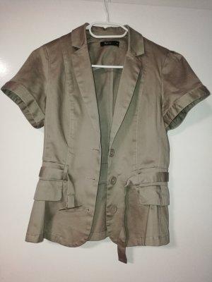 Sommer SALE* Neu Cardigan Blazer Jacke Kurzarm mit Gürtel von flame (Takko)