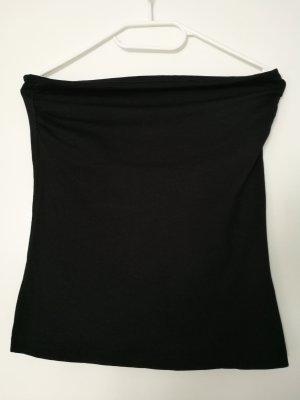 H&M Top z odkrytymi plecami czarny Bawełna