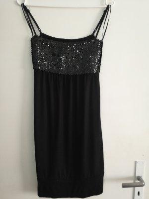 Sommer SALE* Sommer Freizeit Party Abend Mini Kleid mit Pailletteneinsatz