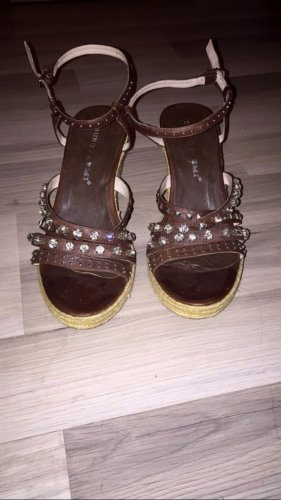 Bruno Premi Platform Sandals dark brown
