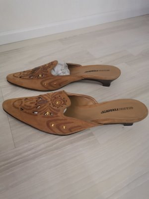 Clog Sandals light brown leather