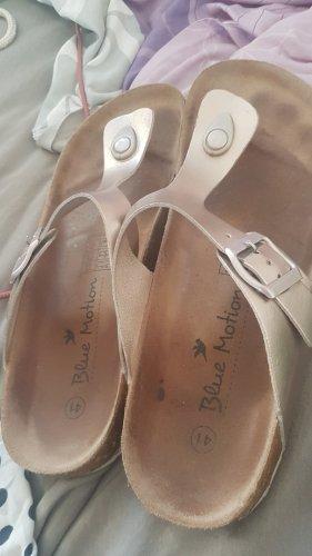 Blue Motion High-Heeled Toe-Post Sandals rose-gold-coloured