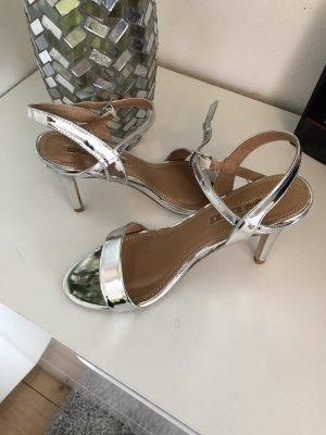 Buffalo London Strapped Sandals silver-colored