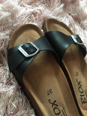 Tkmaxx Flip flop sandalen zwart Leer