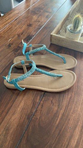 Sandalias de playa turquesa-azul cadete