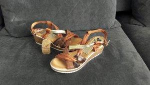 Sommer Sandalen braun neu Keilabsatz