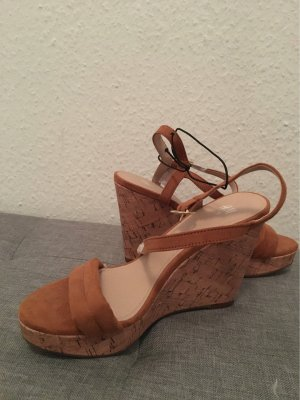 H&M Strapped Sandals brown-cognac-coloured