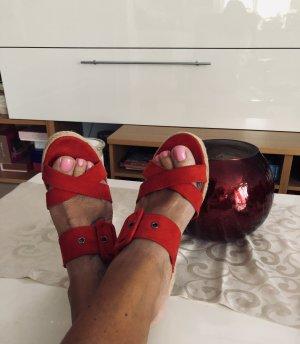 Sommer Sandalen / Pumps / Keilabsatz /Rot gr.40, Marco Tozzi